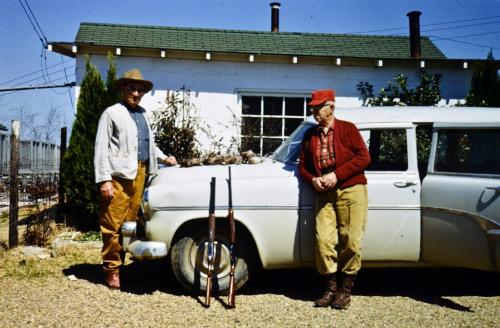 From left, Harvey Fleck and Ora O. Snyder, Sr.